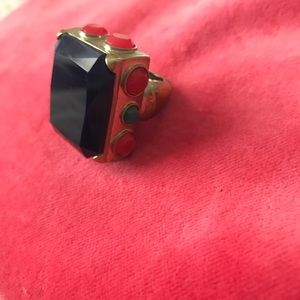 Jewelry - Gorgeous large ring. Navy blue w/ orange & green